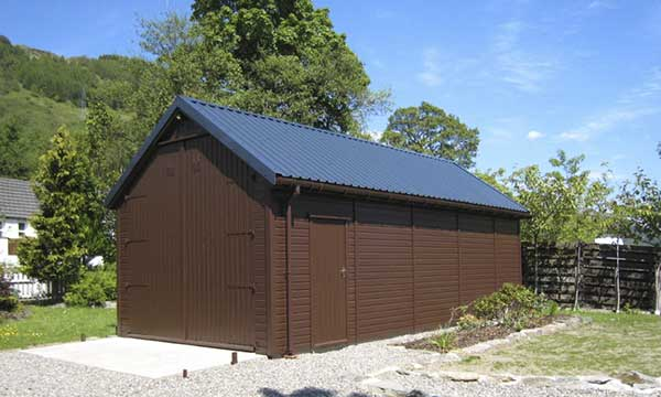 Steel Box Profile Garage